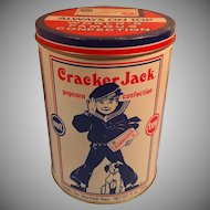 Limited Edition 1990 Cracker Jack Round Container / Tin