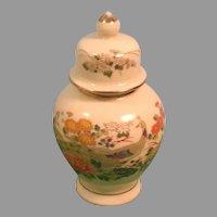 Vintage OMC Japan Porcelain Tea Caddy / Ginger Jar / Urn