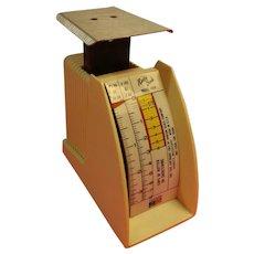 Vintage Hanson Recipe Scale Model 1308