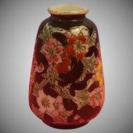 Vintage Ceramic / Porcelain Painted Mini Vase Toothpick Holder