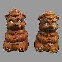 Souvenir of Virginia City, Nev. Ceramic Bear Salt and Pepper Shakers
