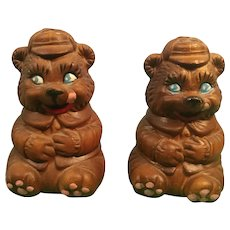 Souvenir of Virginia City, Nev. Ceramic Bear Salt and Pepper Shakers