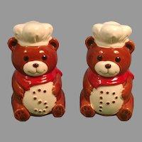 Vintage Set of B & D Japan Ceramic Bear Salt and Pepper Shakers