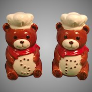Vintage Set of B & D Japan Ceramic Bear Salt and Pepper Shakers