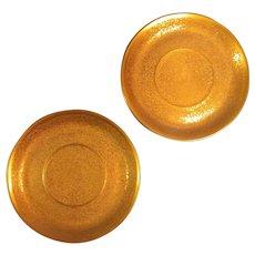 "Rosenthal Donatello Selb Bavaria Stouffers Encrusted Gold 5 3/4"" Saucer Pair"