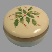Lenox Dimension Hollyberry Holiday Lidded Dish / Trinket Box