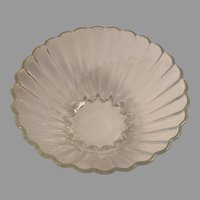 Pressed Glass Scalloped Panel Salad /  Punch Bowl