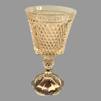 Vintage Indiana Glass Diamond Point Goblet or Chalice