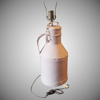 Vintage Painted Pink Arden Milk Can Lamp