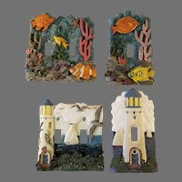 Two Matching Sets of Ceramic Light Switch Covers