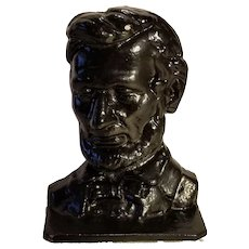 Black Paint Cast Iron Abraham Lincoln Bookend Free Shipping