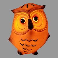 Mid Century Josef Originals Ceramic Owl Nightlight