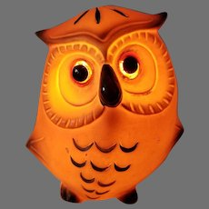 Mid Century Josef Originals Ceramic Owl Nightlight