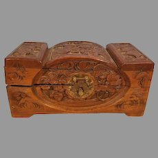 Sale Vintage Small Chinese Carved Camphor Wood Chest