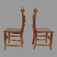 Pair Metal Chair Bookends / Display Stands / Door Stops