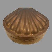 Brass Lidded Clamshell Trinket Box