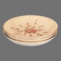 Three Vintage Japan Harmony House Rosebud Fine China Bowls