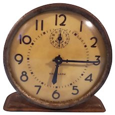 Westclox WW2 Era Waralarm Alarm Clock Made in La Salle, IL Needs Repair