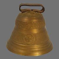 Vintage Ornate Swiss Brass Cow Goat Bell