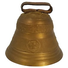 Vintage Ornate Swiss Brass Cow Goat Bell