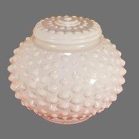 "Hobnail Milk Glass 3"" Fitter Lamp Ceiling Shade"