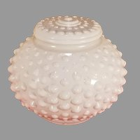 "Hobnail Milk Glass 3"" Fitter Lamp Ceiling Shade"