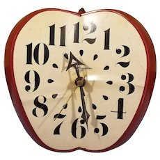 1960's Ingraham Electric Apple Kitchen Wall Clock