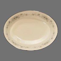 """Noritake 6716 Iverness Porcelain 9 1/2"""" Oval Serving Vegetable Bowl"""