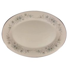 Noritake 6716 Iverness Porcelain Floral Serving Platter 14""