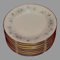 "Set of 8 Noritake 6716 Iverness Bread / Dessert Plates 6 3/8"""