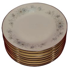 Set of 8 Noritake 6716 Iverness Bread / Dessert Plates 6 3/8""