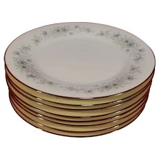 Set of 8 Noritake 6716 Inverness Dinner Plates 10 1/2""