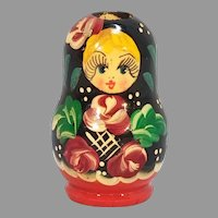 Wood Hand Painted Russian Doll Toothpick Holder