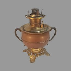 Plume & Atwood Oil Kerosene Lamp Drop in Font Copper and Brass