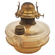 Vintage (and damaged) Amber Tint Rayo Oil Lamp Dorset Division Eagle Burner