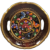 Hand Painted Floral Souvenir Wood Serving Bowl Mexico