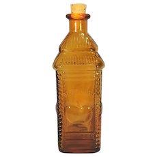 Embossed Nuline N.J. Phil A. Berring's Amber Apple Bitters Bottle