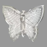 Jeannette Clear Glass Butterfly Candy Nut Dish