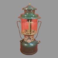 Vintage Green Coleman Lantern for Repair