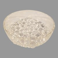 Footed Clear Glass Bubble Bottom Serving Bowl