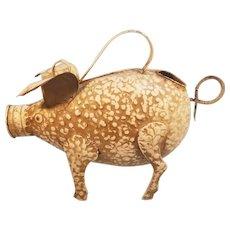 Metal Pig Watering Can