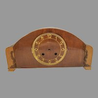 Vintage Linco Wood Mantle Clock for Restoration