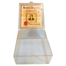 Vintage Plastic Robt. Burns Cigarillos 5 Cents Cigar Box / Case