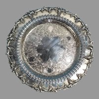 Sheffield Reproduction Silverplate on Copper Georgian and Grape Serving Tray or Plate