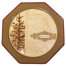 Grasslands Road ILLUMINATE Christmas Octagon Stoneware Plate