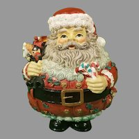 Resin Santa and and His Bag of Toys