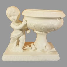1962 Inarco Ceramic Cherub and Doves Planter / Vase