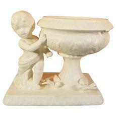1962 Inarco Ceramic Cherub and Doves Planter / Vase
