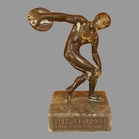 Brass / Bronze Discobolus of Myron Discus Thrower