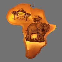 Wood and Copper Mount Kenya Safari Club Elephant Wall Plaque